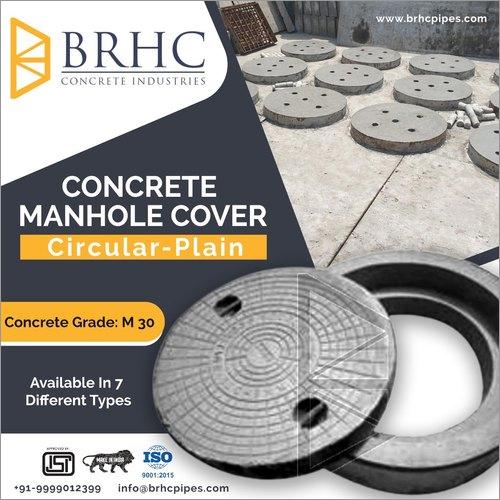 Circular Plain Concrete Manhole Cover