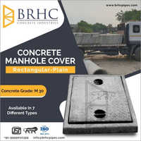 Rectangular Plain Concrete Manhole Cover
