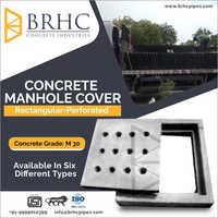 Rectangular Perforated Concrete Manhole Cover