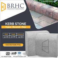 Round Top Concrete Kerb Stone