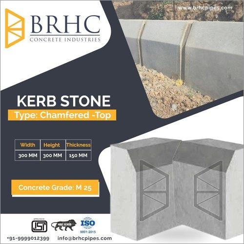 Chamfer Top Concrete Kerb Stone