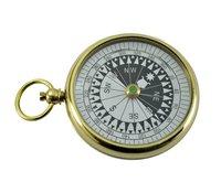 Brass Flat Pocket Compass 2.5 Inch