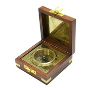 Nautical Brass Boxed Compass