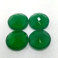 11mm Green Onyx Faceted Round Loose Gemstones