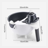 7 In 1 vegetable cutter With Drain Basket