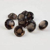 5mm Smoky Quartz Faceted Round Loose Gemstones