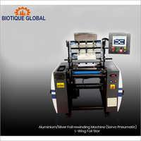Servo Pneumatic Aluminium Silver Foil Rewinding Machine