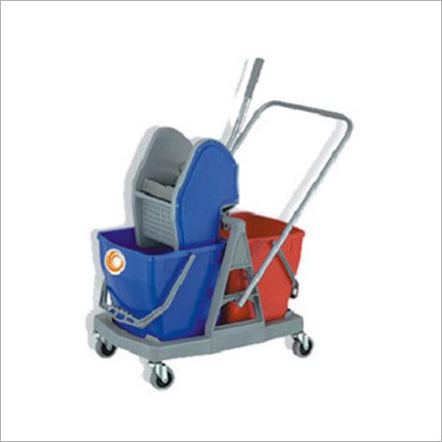 Industrial Blue Mop Wringer Trolley