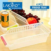 Fridge Shelf Organiser Rack Space Saver Food Storage Tray Basket