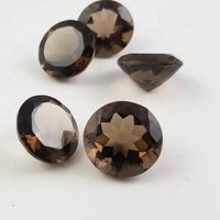 11mm Smoky Quartz Faceted Round Loose Gemstones