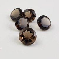 12mm Smoky Quartz Faceted Round Loose Gemstones