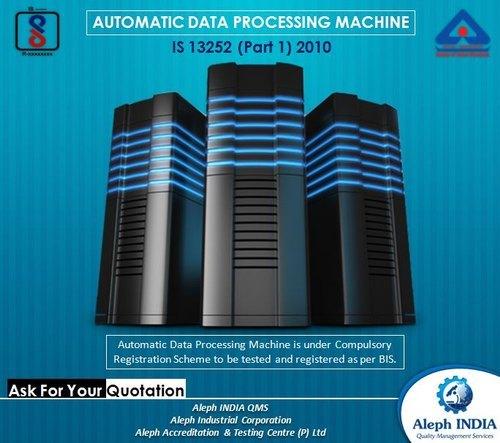 BIS Registration for Data processing machine