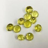 11mm Lemon Quartz Faceted Round Loose Gemstones