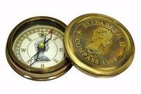 1969 Elizabeth II Brass Antique Compass