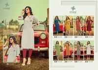 Mulberry Vol 1 Designer Swiss Slub Cotton With Embroidery Work Kurtis