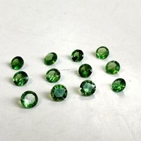 1.75mm Green Garnet Faceted Round Loose Gemstones