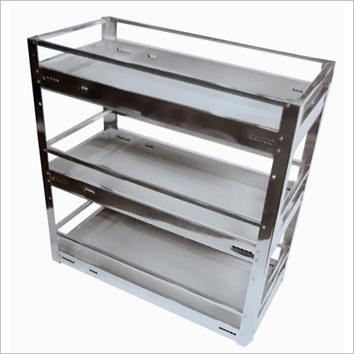 Pipe Basket - Spice Pullout 3 Shelf