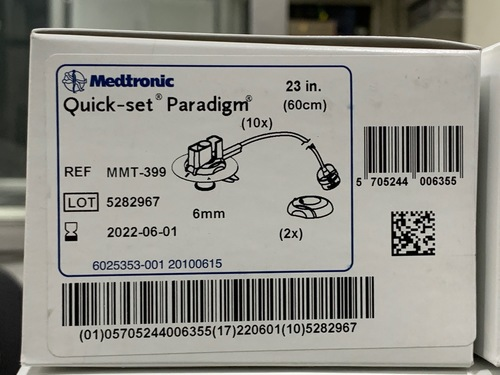 Medtronics Minimed MMT 399 Quickset Paradigm Infusion Sets 6 mm Canula and 23