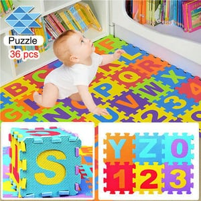 Alphanumeric Puzzle Mats for Kids