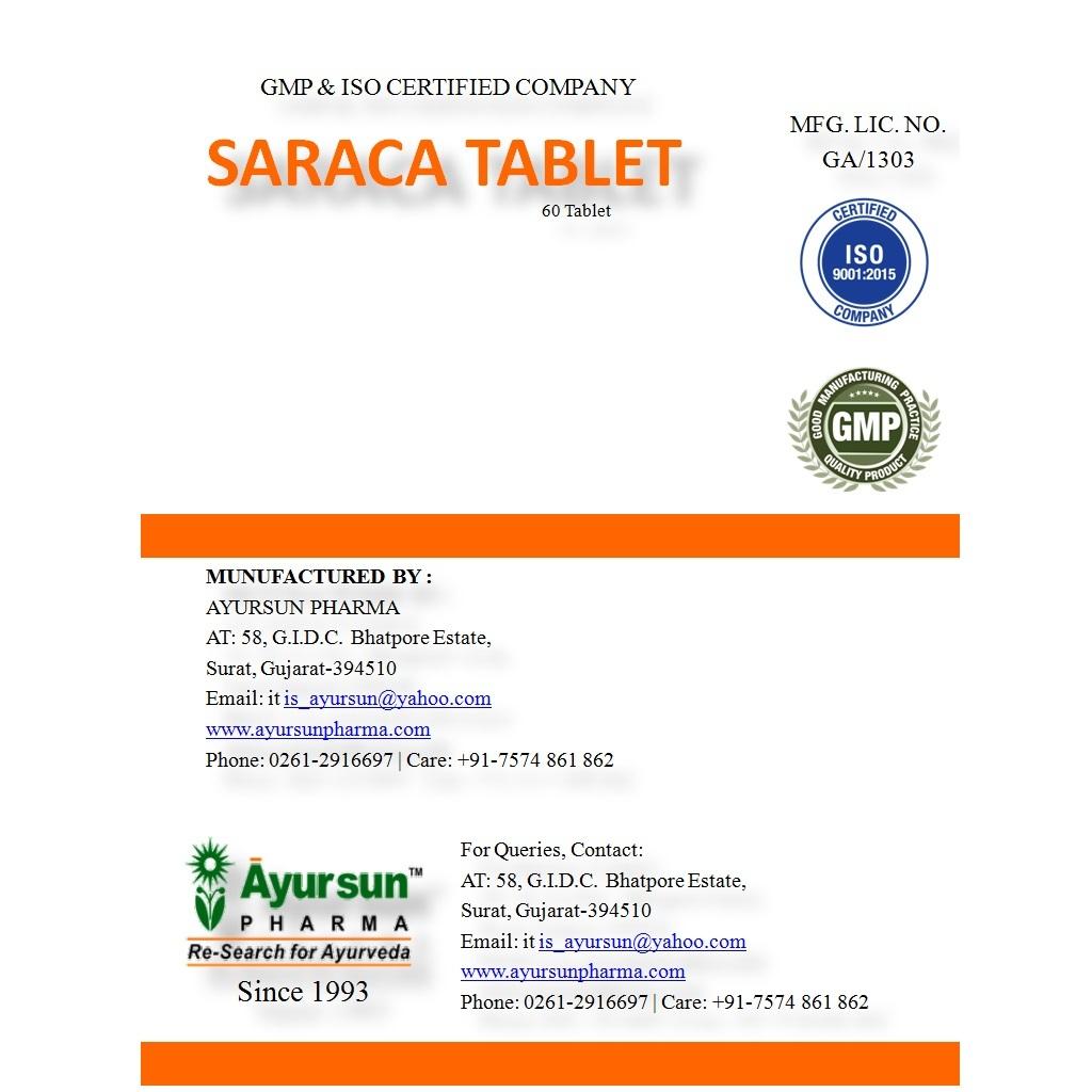 Saraca Tablet (Leucorrhoea And Constant Backache)