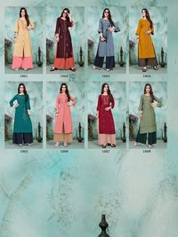 Charlotte 2 Designer Rayon Embroidered Kurtis And Plazzo