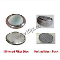 Sintered Filter Disc and Knitted Mesh Pack