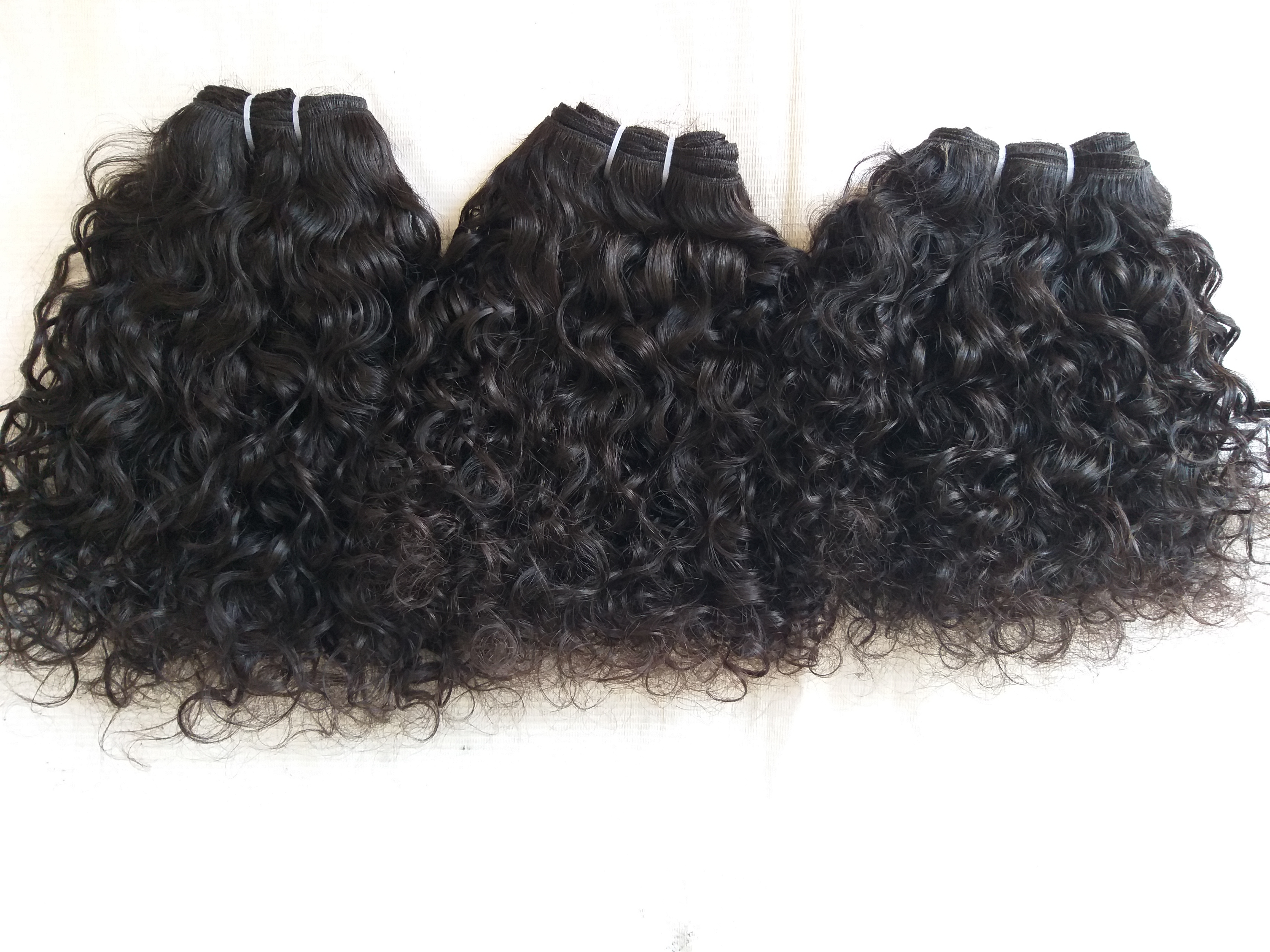 Natural  Temple Curly Hair , Cuticle Aligned Hair