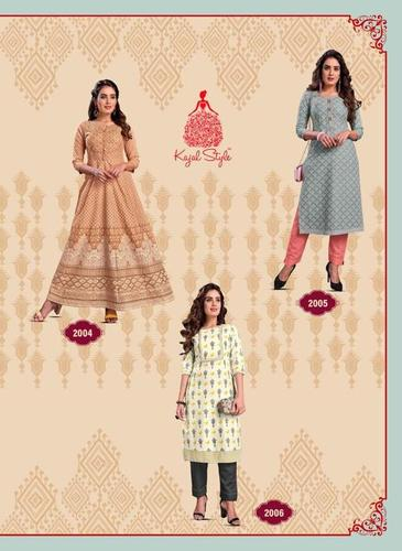Fashion Paradise Vol 2 Branded Rayon Kurti With Pant & Gown