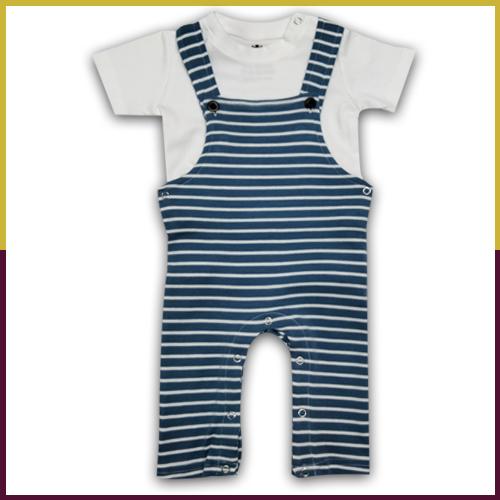 Sumix Skw 2025 Baby Boys Half Sleeve Dungarees