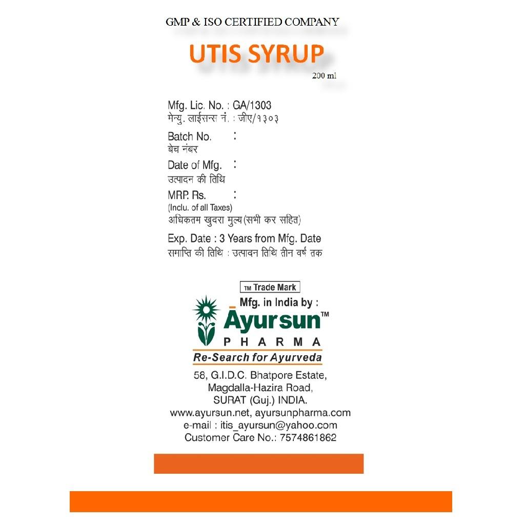 UTIS Syrup (Herbal Uterine Tonic)