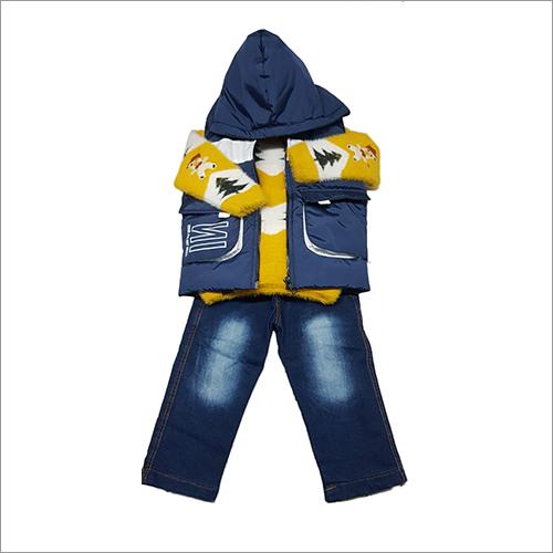 Kids Jeans And Hoodie Jacket