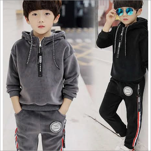 Kids Plain Hoodie And Jogger