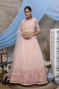 Designer Net Fabric Lehenga Choli Collection