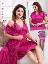 Kavyansika Vol 225 Designer Satin Plai Fine Quality Night Wear