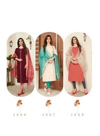 Nari Vol-11 Ladies Rayon Slub 14 Kg Kurtis With Dupatta