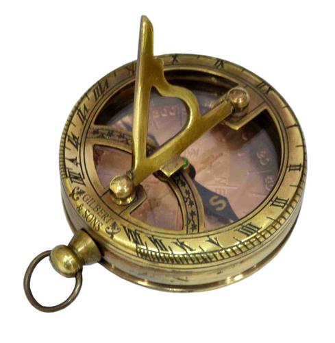"2.5"" Brass Antique Nautical Sundial Compass"
