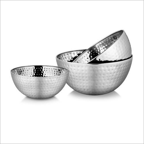 28 cm Stainless Steel Salad Bowl Set