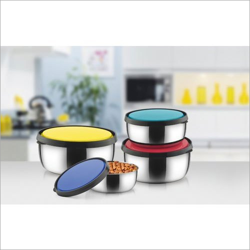 18 cm Stainless Steel Storage Bowl Set With Lid