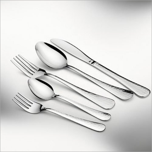 Stainless Steel Italiano Hammered Cutlery Set