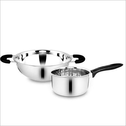 Stainless Steel Kadai And Saucepan Set