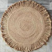 Jute Round Braided Floor Rug