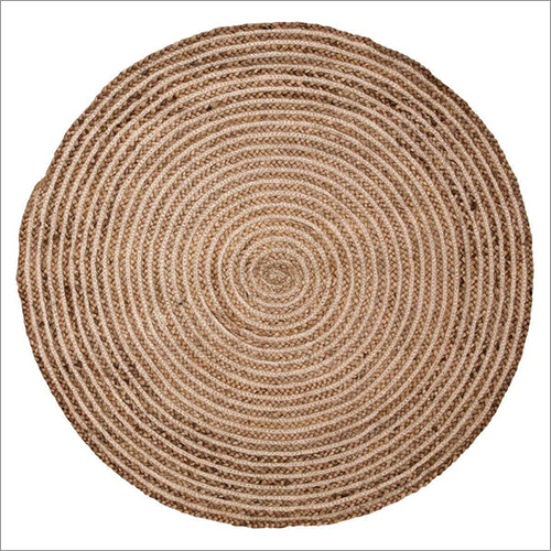 Jute Designer Braided Floor Rug