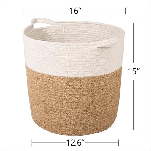 Round Cloth Jute Basket