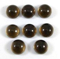 10mm Smoky Quartz Round Cabochon Loose Gemstones