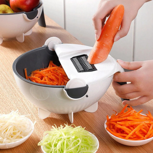 7 IN 1 MULTI FUNCTIONAL ROTATE VEGETABLE CUTTER