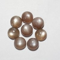 9mm Brown Moonstone Round Cabochon Loose Gemstones