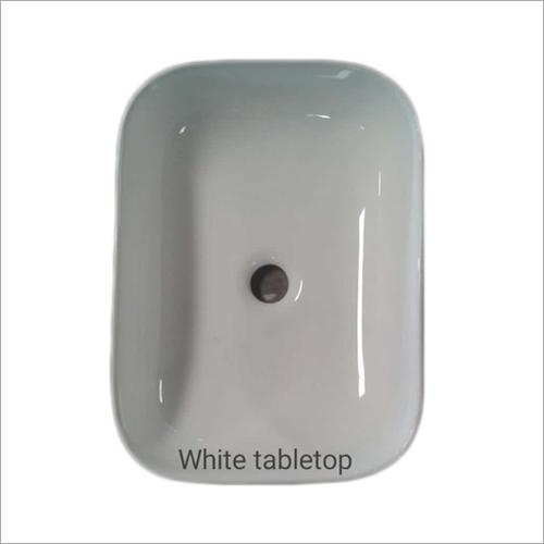 White Tabletop Square Wash Basin