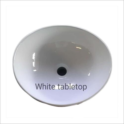 White Tabletop Wash Basin