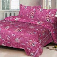 Pink Printed Bed Sheet