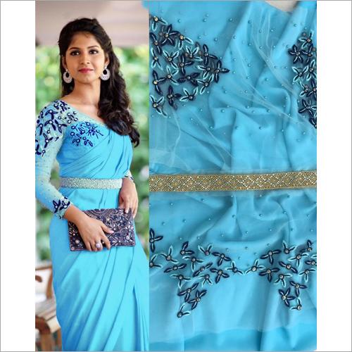 Ladies Blue Saree